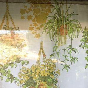 Vintage Accents - Vintage macrame hanging plant curtain